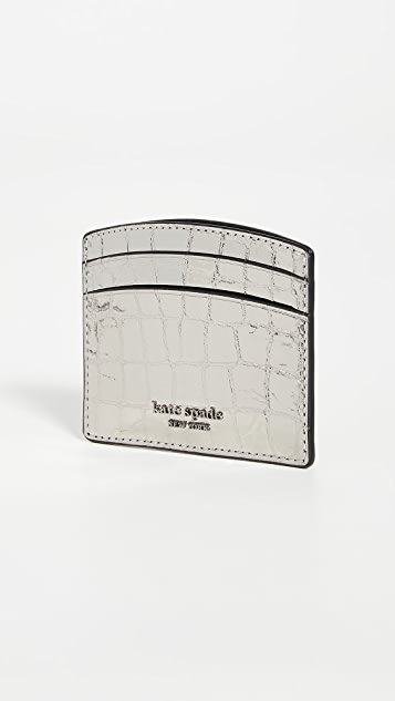 Kate Spade New York Sylvia Croc Embossed Card Holder