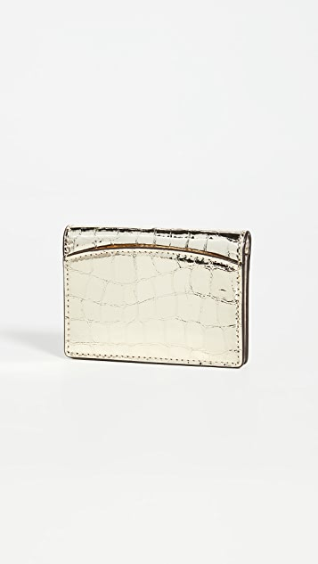 Kate Spade New York Sylvia Croc Embossed Mirror Card Case