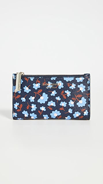 Kate Spade New York Reece Party Floral Small Slim Bifold Wallet