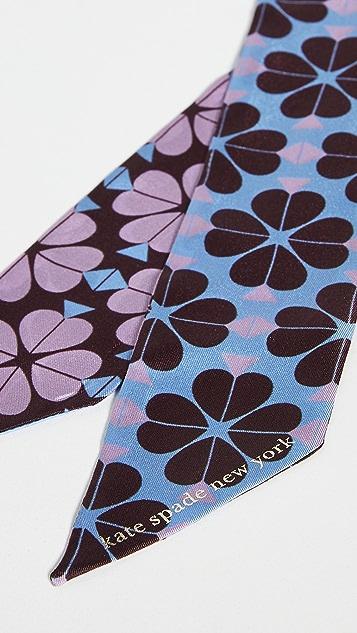 Kate Spade New York Узкий шарф Spade с цветочным рисунком