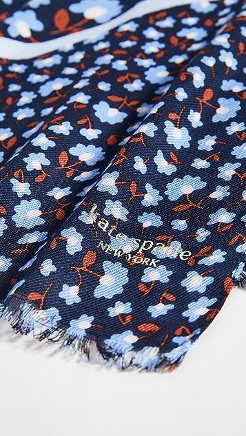 Kate Spade New York Продолговатый шарф с цветочным принтом Party