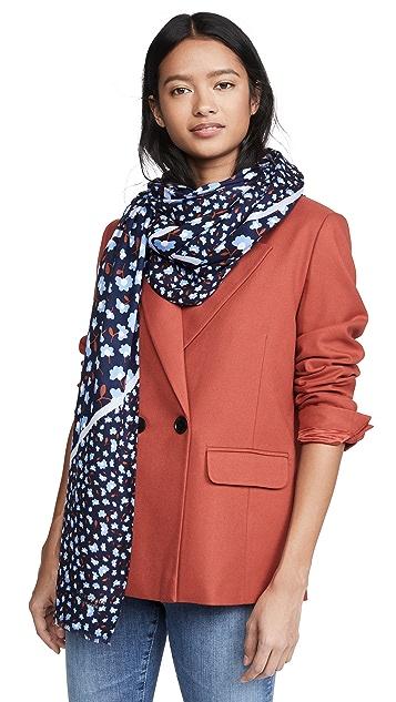 Kate Spade New York 派对花卉长方形围巾