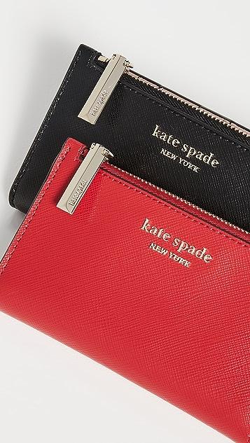 Kate Spade New York Узкий кошелек двойного сложения Spencer