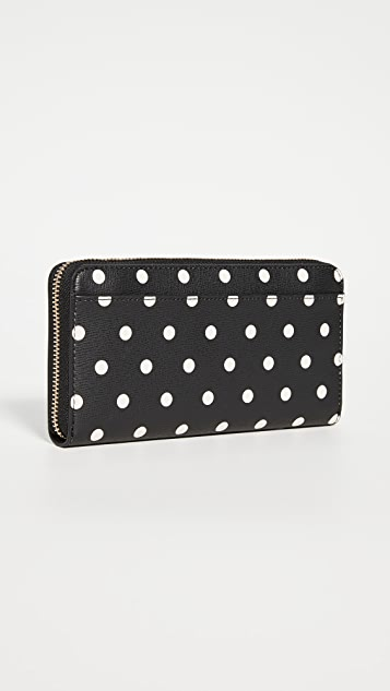 Kate Spade New York Spencer Cabana Dot Zip Around Continental Wallet
