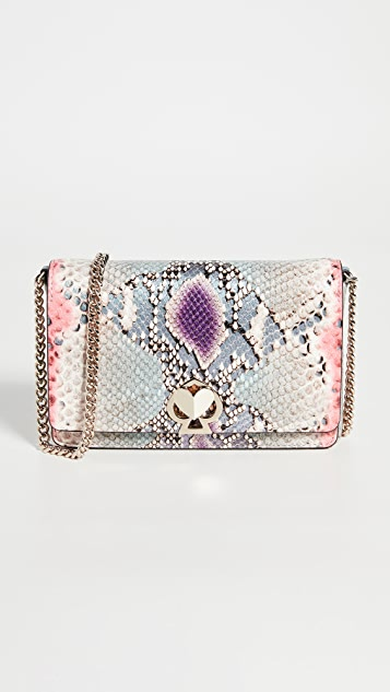 Kate Spade New York Romy Python Embossed Chain Wallet