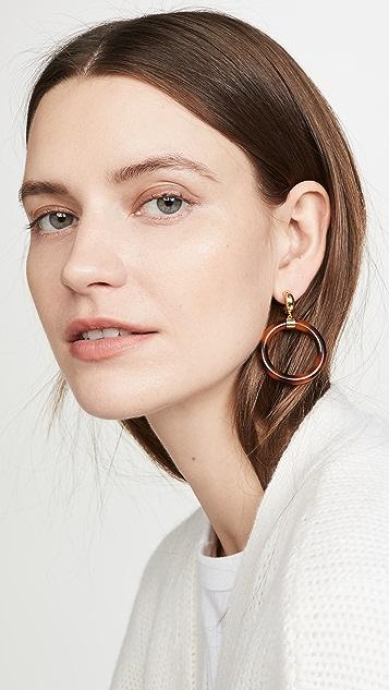 Kate Spade New York 植物花园树脂圈式耳环