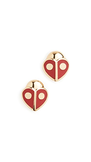 Kate Spade New York Animal Party Ladybug Studs