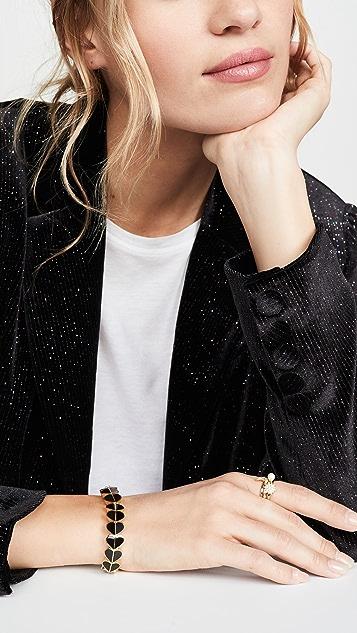 Kate Spade New York Эластичный браслет с эмалированным сердечком