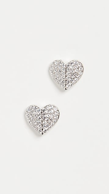 Kate Spade New York Pave Small Heart Studs