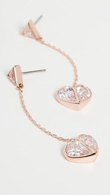 Kate Spade New York Серьги-капли в виде каменных сердечек