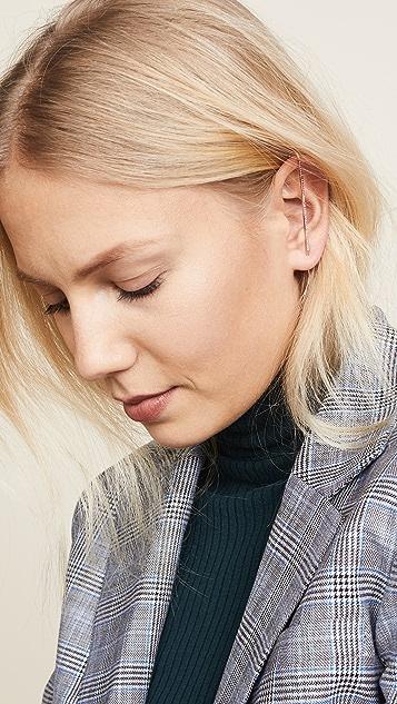 KatKim Ombre Ruby & Pink Sapphire Ear Pin