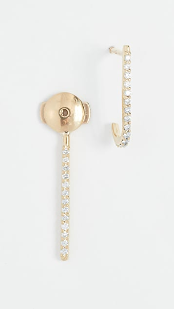 KatKim 18k Petite Diamond Ear Pin