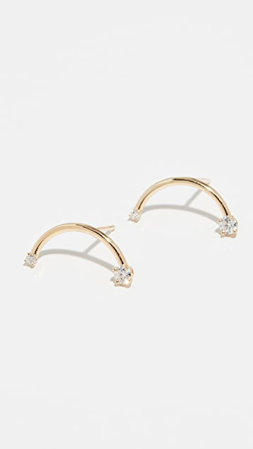 KatKim Harpe 18k 钻石耳环