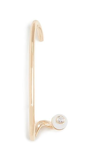 KatKim 18k Crescendo 喇叭淡水养殖珍珠耳针