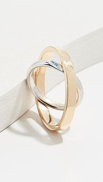 KatKim Кольцо из 18-каратного золота Echo