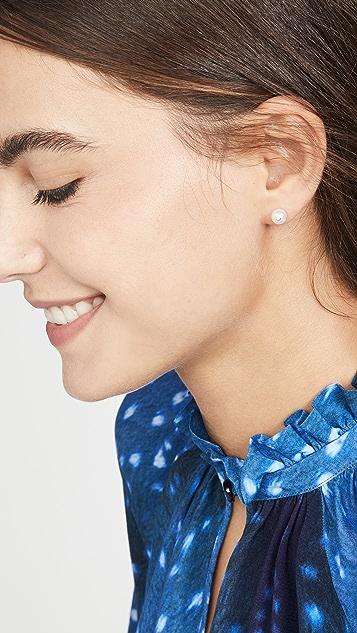 KatKim Diamond Oasis 珍珠耳钉