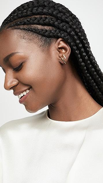 KatKim Mono Half Pave Earring