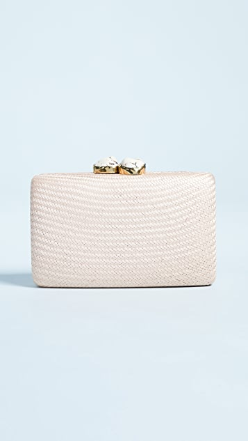 Kayu Jen Clutch with White Stones