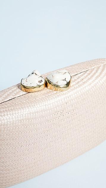Kayu Jen Clutch with White Stones