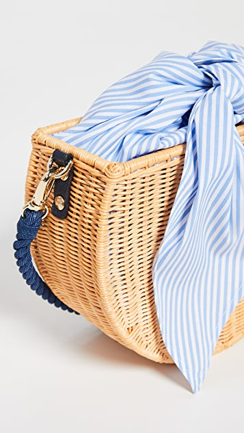 Kayu Dylan Wicker Crossbody Bag