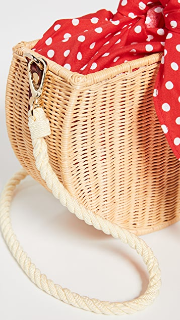 Kayu Dylan Wicker Crossbody Bag