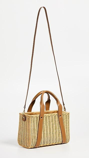 Kayu Daisy Wicker Tote Bag