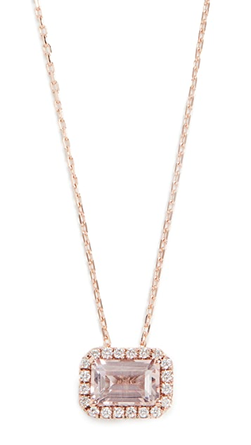 Kalan by Suzanne Kalan 14k Rose Gold Emerald Cut Necklace