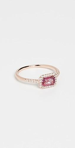Kalan by Suzanne Kalan - 14k Rose Gold Hexagon & Pave Diamond Ring
