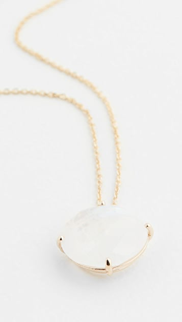 Kalan by Suzanne Kalan 14k Yellow Gold Necklace Round Moonstone