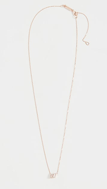 Kalan by Suzanne Kalan 14k 玫瑰金三颗长方形宝石吊坠
