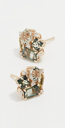 Kalan by Suzanne Kalan - Blossom Green Mix Stud Earrings