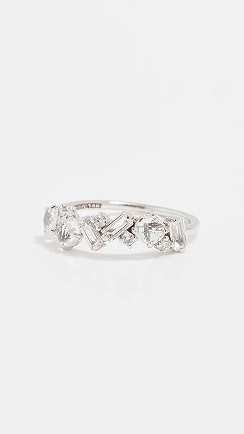 Kalan by Suzanne Kalan 白色黄晶石和钻石簇状戒指