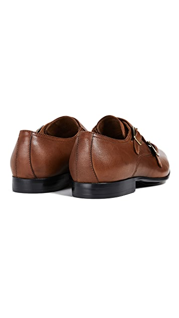 Kenneth Cole Mix Double Monk Strap Loafers