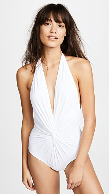 7ffb7ddd04a78 Karla Colletto Plunge Back One Piece Swimsuit | SHOPBOP