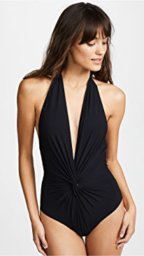 Low Back Plunge One Piece Swimsuit