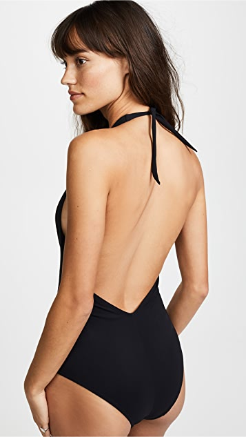 7546e8d50fc Karla Colletto Low Back Plunge One Piece Swimsuit | SHOPBOP