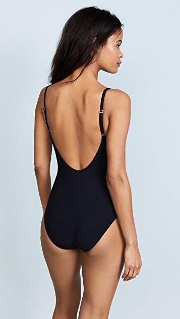 Karla Colletto Skinny Scoop Swimsuit with Low Back