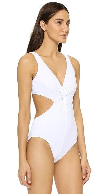 Karla Colletto V Neck Swimsuit