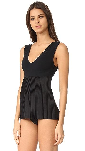 Karla Colletto Josephine V Neck Swim Dress
