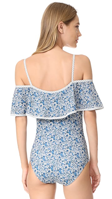 Karla Colletto Lapis Cold Shoulder Maillot