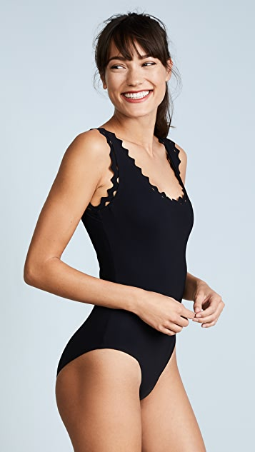 Karla Colletto Reina Rick Rack One Piece Swimsuit