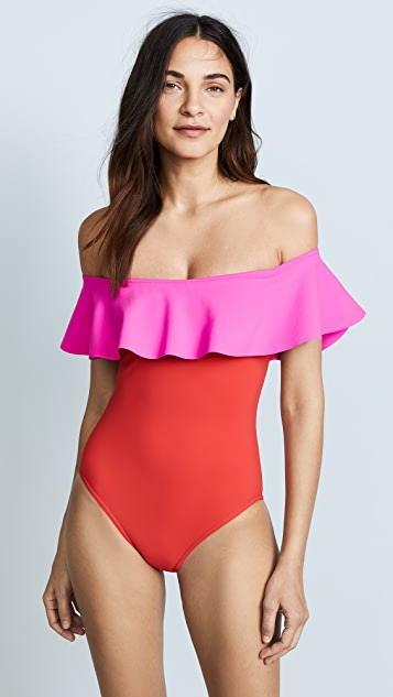 Karla Colletto Jay Off the Shoulder One Piece