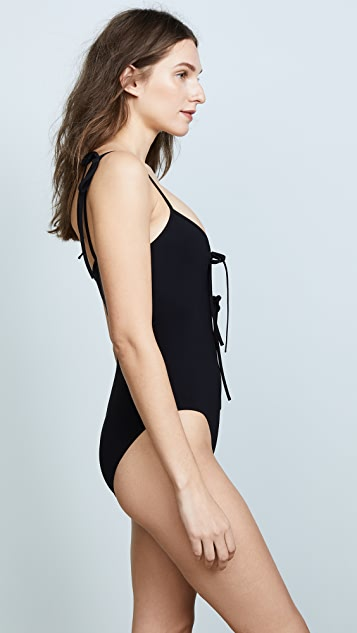 Karla Colletto Allure V Neck Maillot