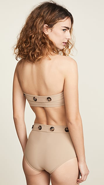 Karla Colletto Bandeau Bra Bikini Top