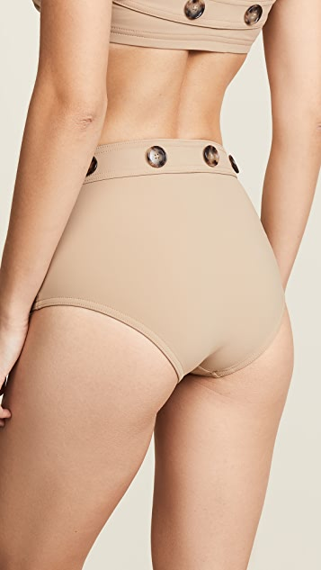 Karla Colletto High Waist Pant Bikini Bottoms