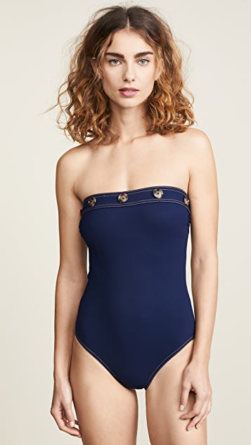 Karla Colletto Lauren Bandeau One Piece