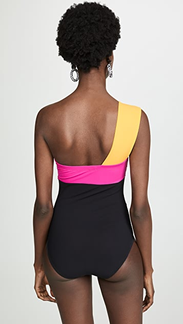 Karla Colletto One Shoulder Swimsuit