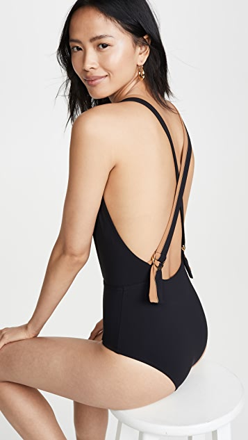 Karla Colletto Katherine Plunge Neck One Piece
