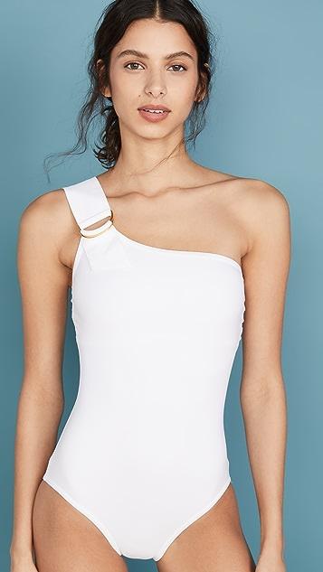 Karla Colletto Сплошной купальник Angelina с открытым плечом