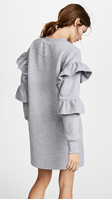 Katya Dobryakova Faces Ruffle Dress